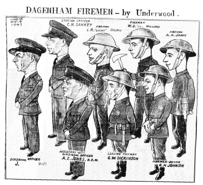Dagenham firemen - Poppa on the far right