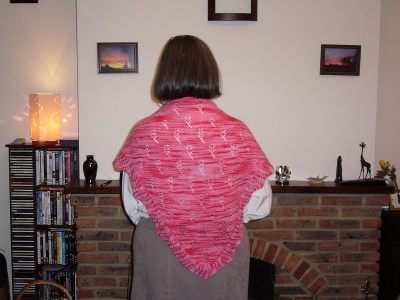 Wildflower shawl - on