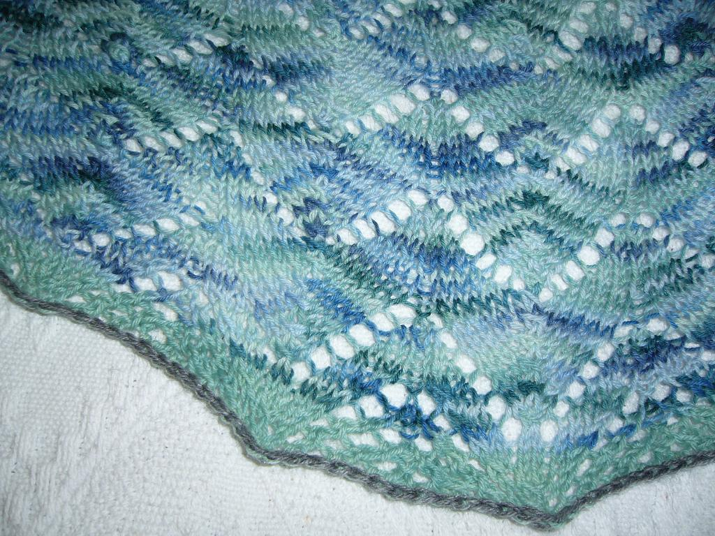 Travelling Woman shawl close-up