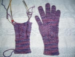 Damson gloves - wip
