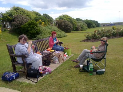 Knitting in Public, Princes Park, Eastbourne