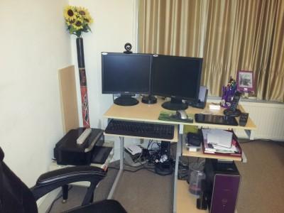 New desk set-up