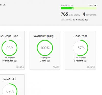 Codeacademy profile