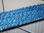 Navy Blue and Turquoise Corriedale - close-up